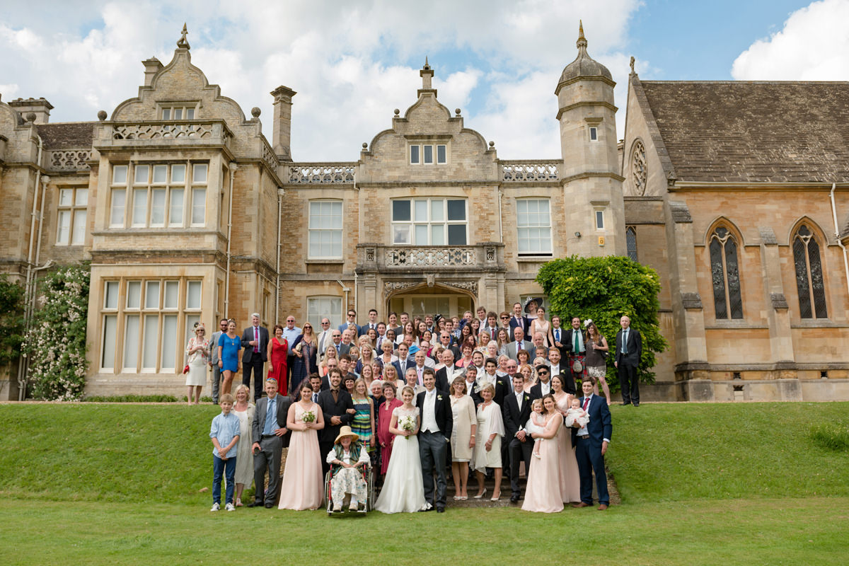 Large group photo on the steps at Exton Park in Rutland