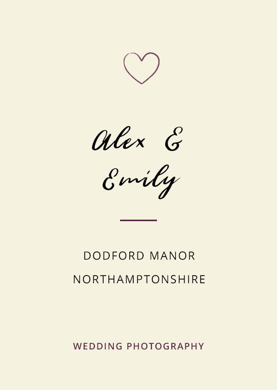 Cover image for Alex & Emily's Dodford Manor wedding blog post