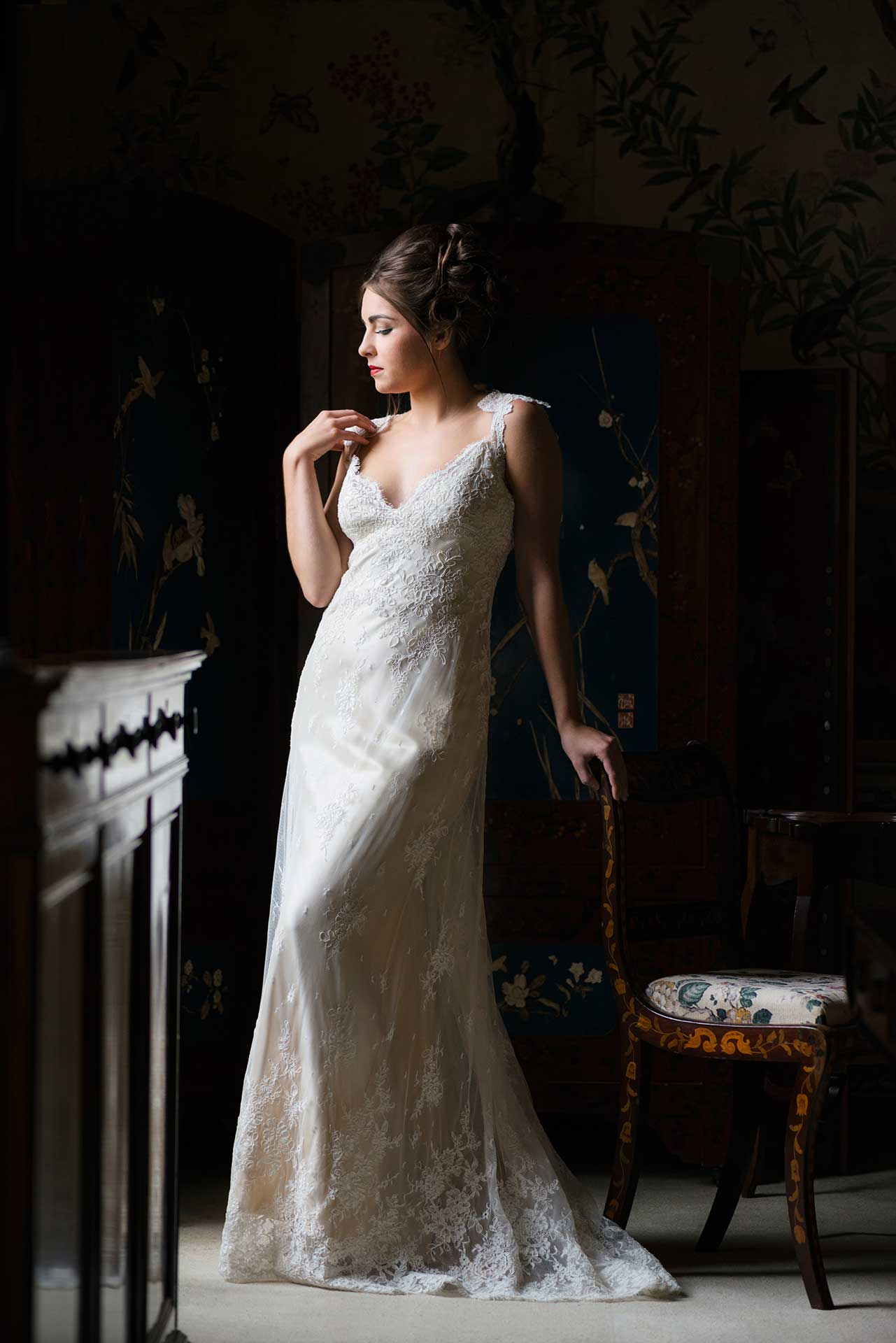 Bridal fashion shoot at Kelmarsh Hall