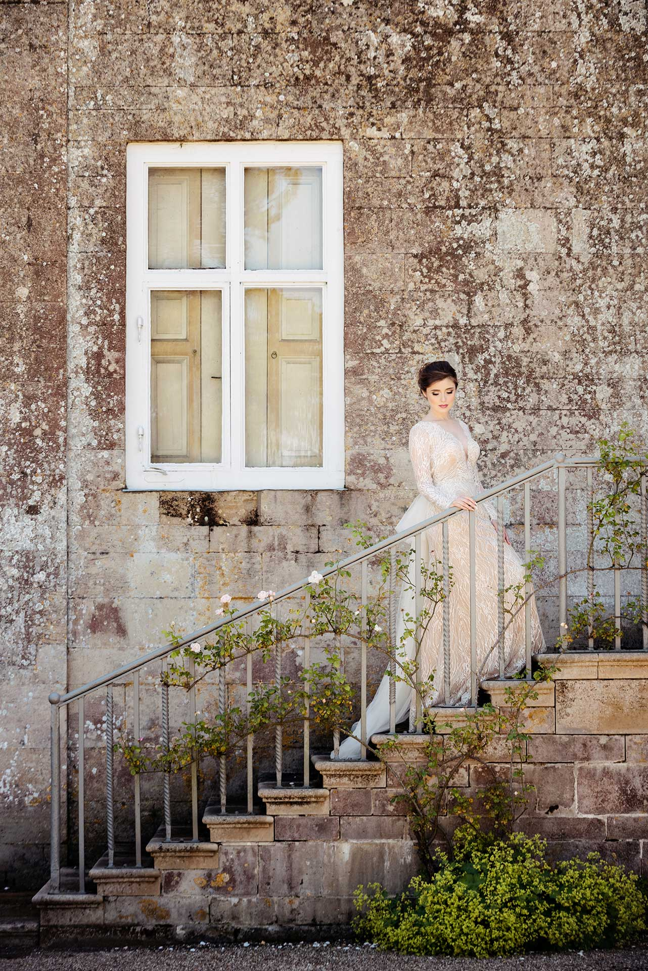 Bridal fashion shoot at Boughton House