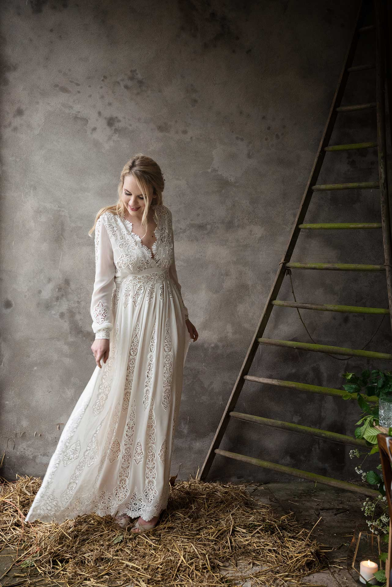 Rustic bridal fashion shoot