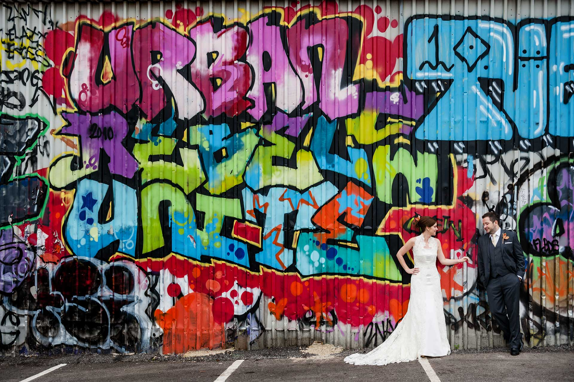 Bridal fashion shoot in Shoreditch