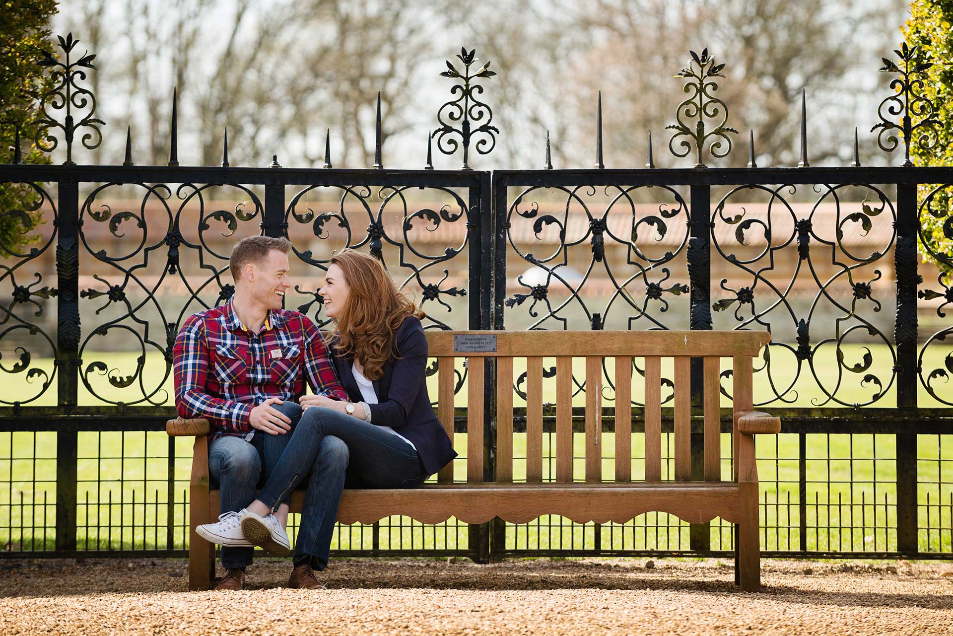 A pre-wedding shoot in the walled garden at Castle Ashby