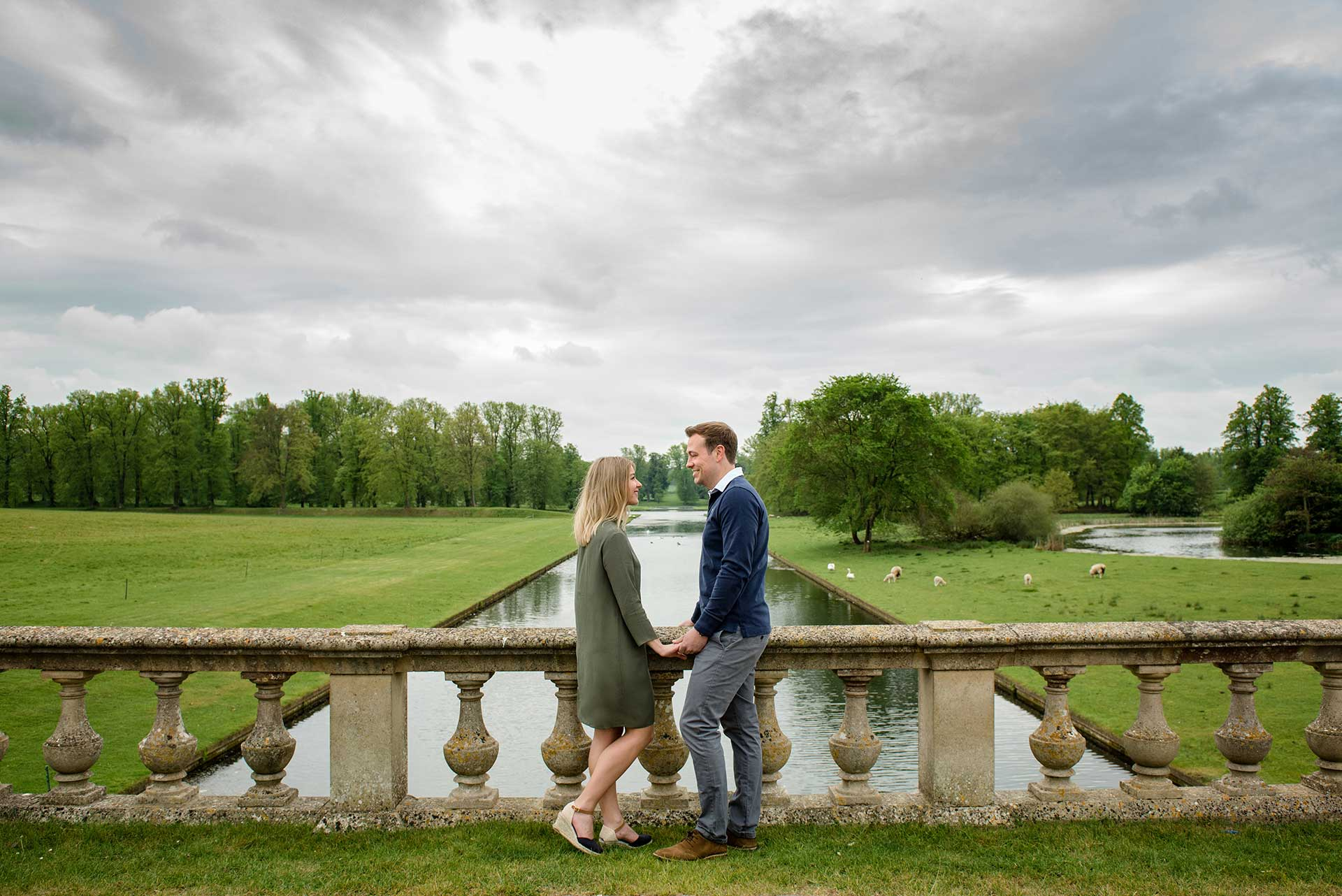 A pre-wedding shoot in the grounds of Boughton House