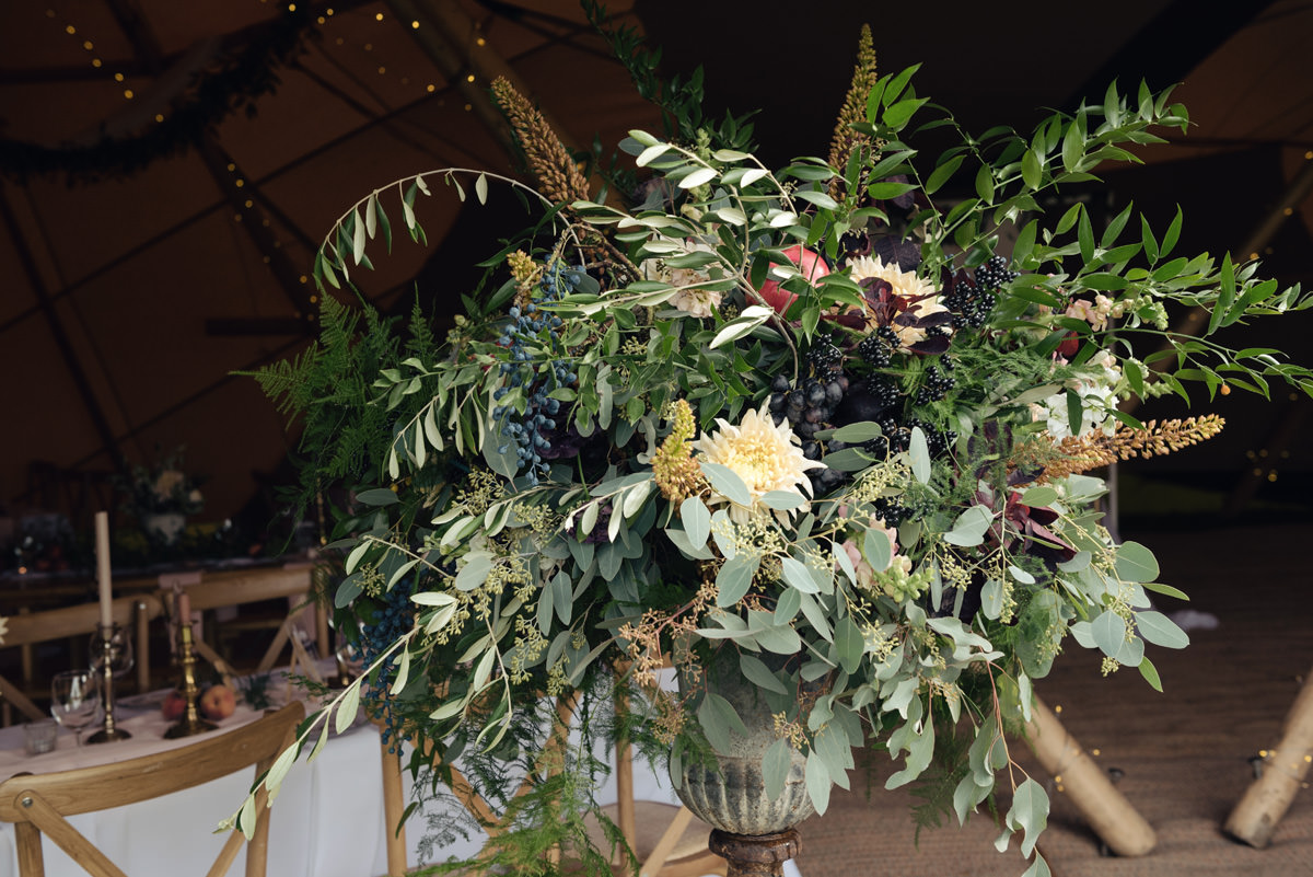 A Tuscany themed outdoor tipi wedding at Cattows Farm in Leicestershire (29)