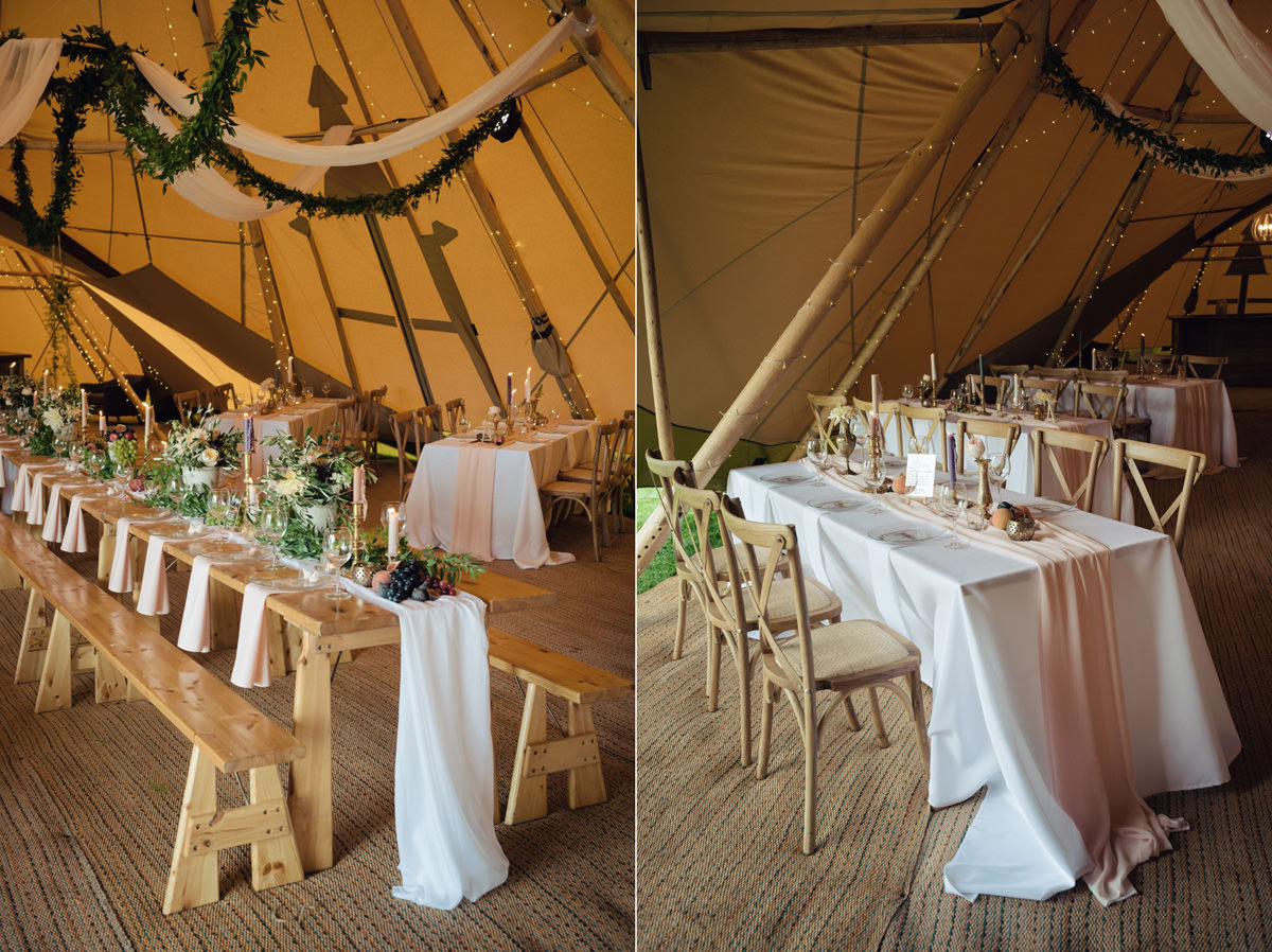 A Tuscany themed outdoor tipi wedding at Cattows Farm in Leicestershire (25)