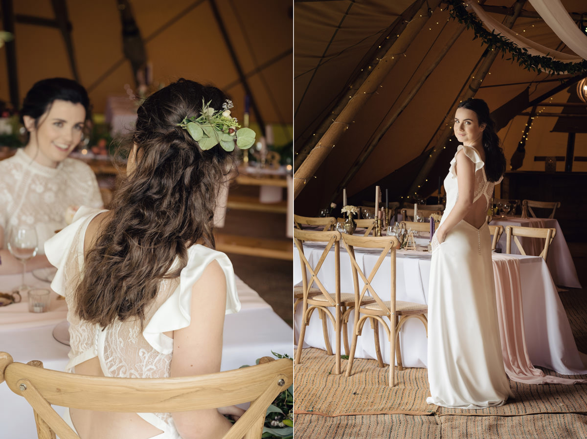 A Tuscany themed outdoor tipi wedding at Cattows Farm in Leicestershire (19)