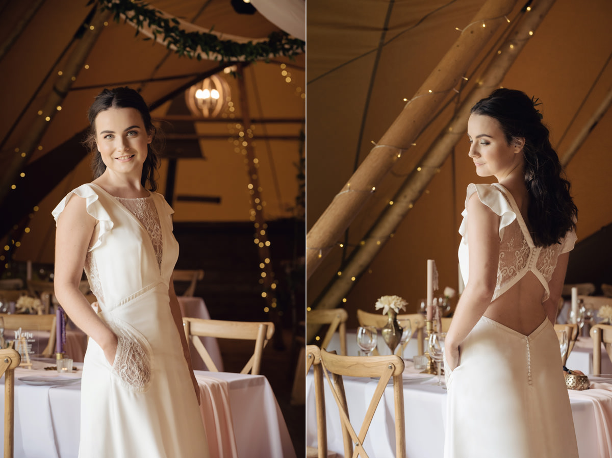A Tuscany themed outdoor tipi wedding at Cattows Farm in Leicestershire (18)