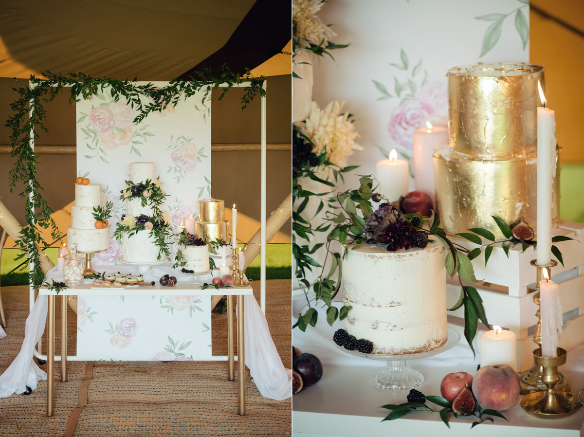 A Tuscany themed outdoor tipi wedding at Cattows Farm in Leicestershire (16)