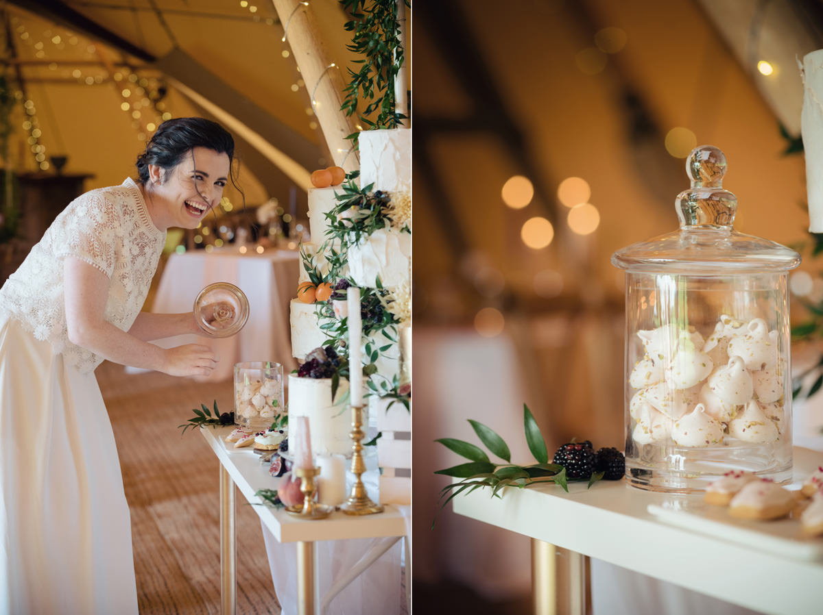 A Tuscany themed outdoor tipi wedding at Cattows Farm in Leicestershire (14)