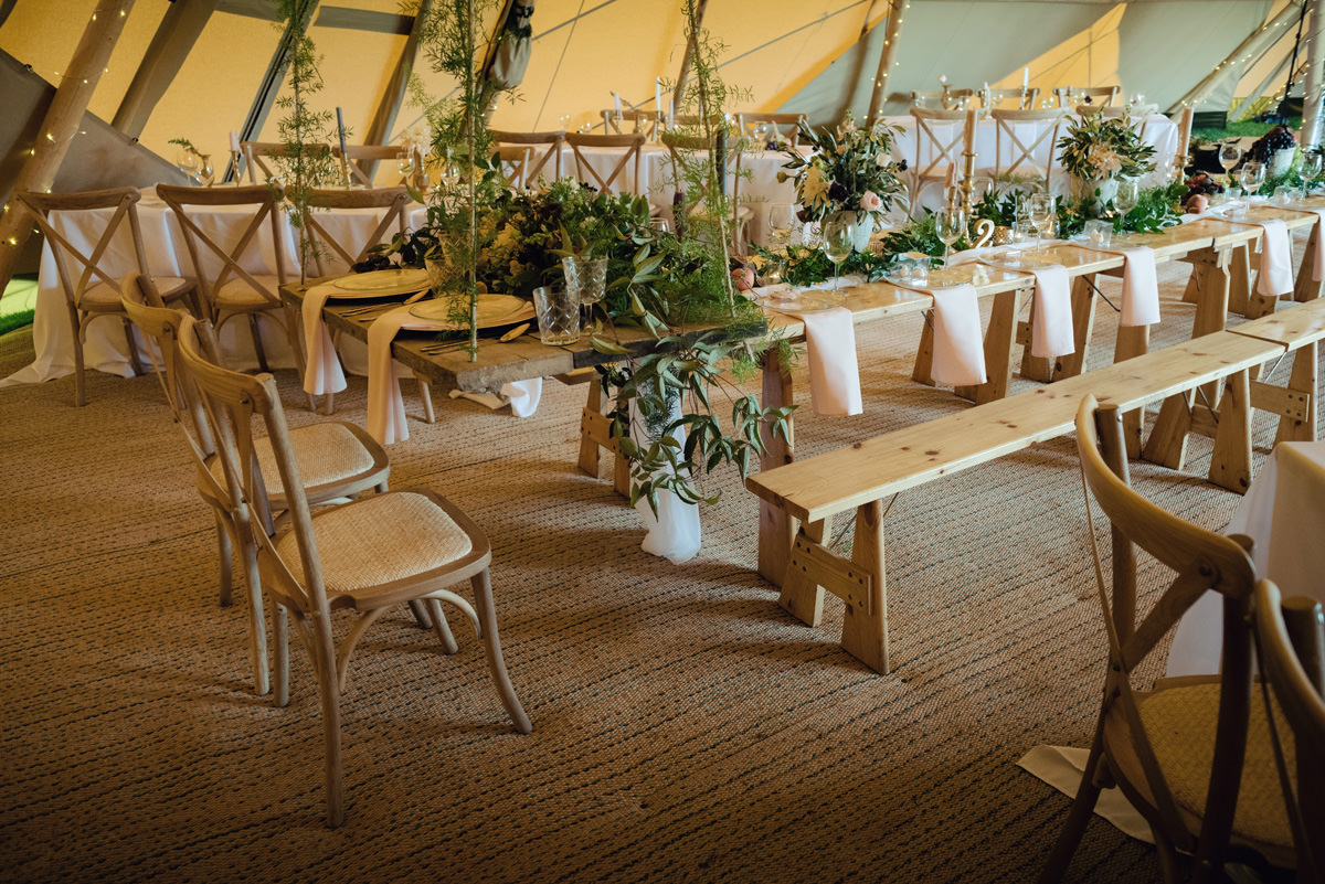A Tuscany themed outdoor tipi wedding at Cattows Farm in Leicestershire (3)