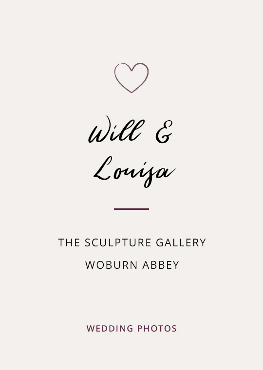Will & Louisa's wedding photos at The Sculpture Gallery, Woburn Abbey