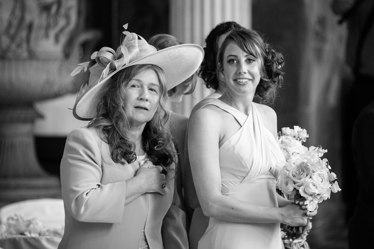 Mother of the Bride & Bridesmaid at The Sculpture Gallery, Woburn Abbey