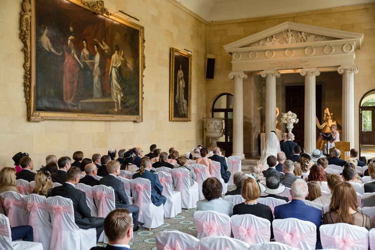 Civil ceremony at The Sculpture Gallery, Woburn Abbey