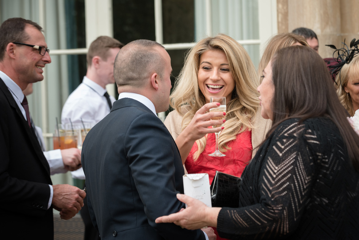 Drinks reception at The Sculpture Gallery, Woburn Abbey