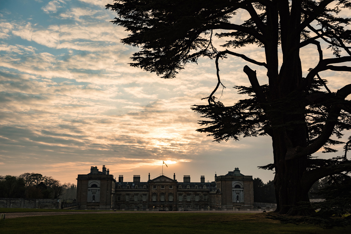Sunset at The Sculpture Gallery, Woburn Abbey