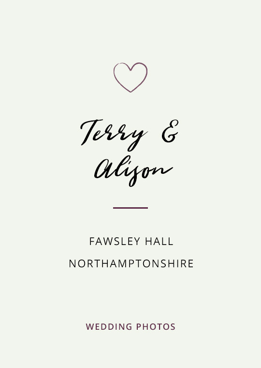 Terry & Alison's wedding photography at Fawsley Hall, Northamptonshire (1)