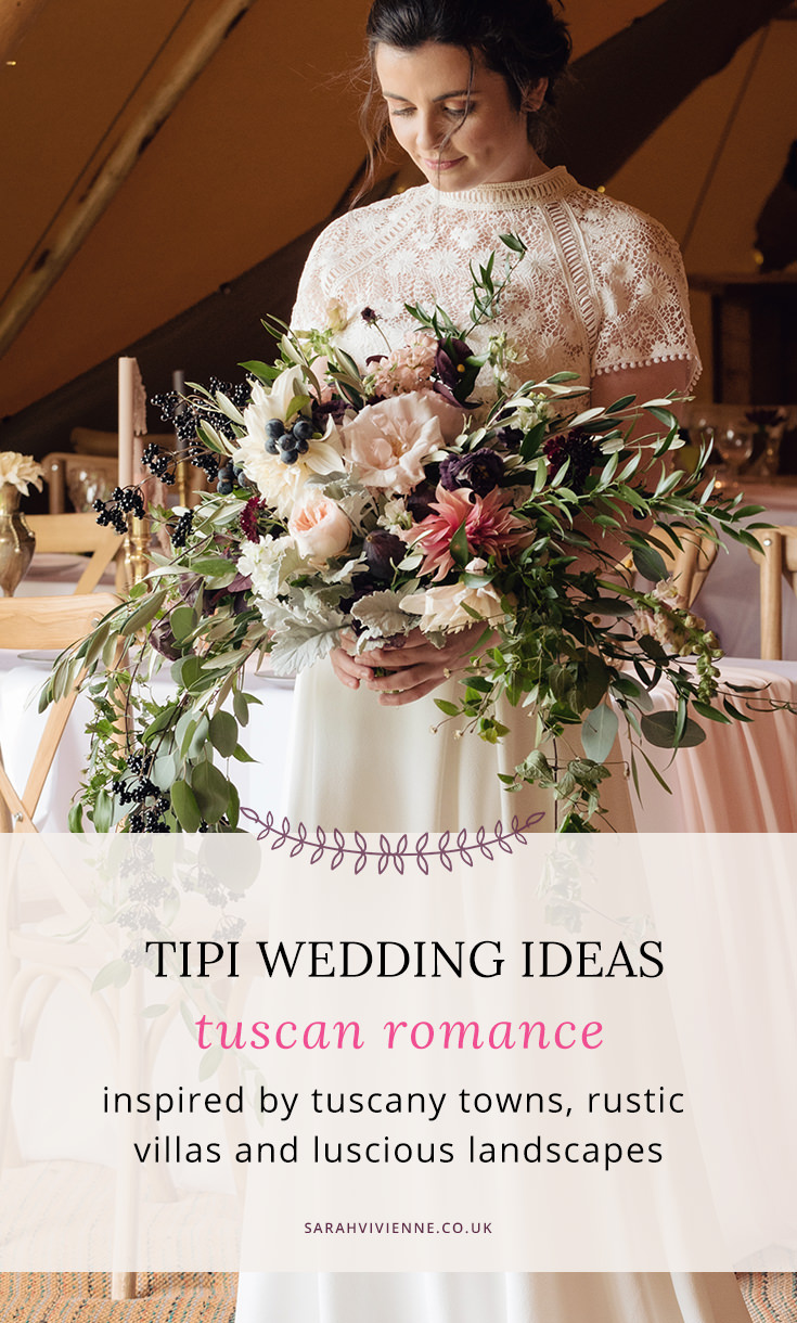 A Tuscany themed outdoor tipi wedding at Cattows Farm in Leicestershire (1)