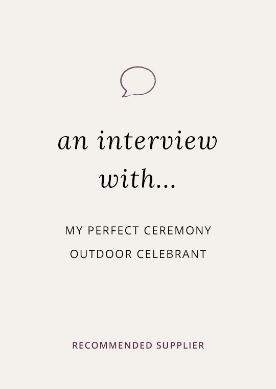 An interview with Jo Clarke at My Perfect Ceremony