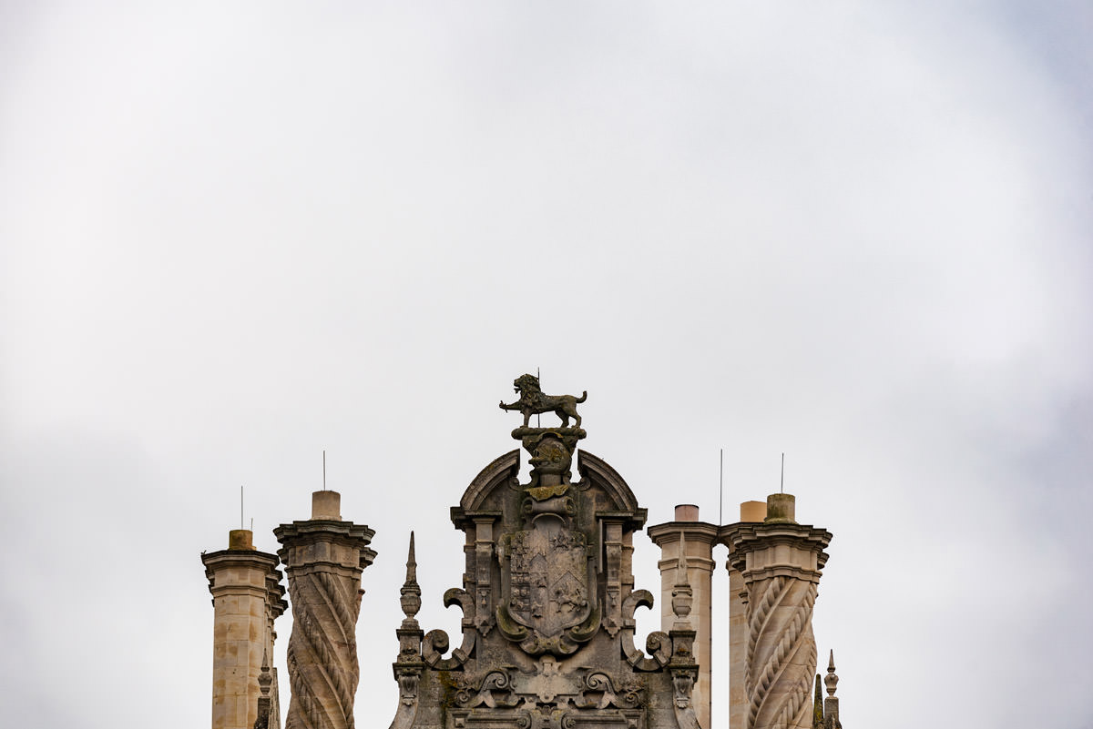A detail on the chimneys at Stoke Rochford Hall in Lincolnshire