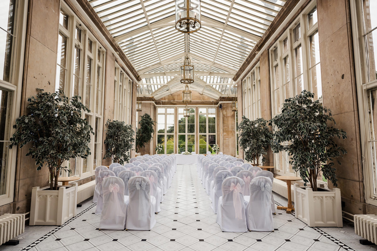 The ceremony room at Stoke Rochford Hall, Grantham