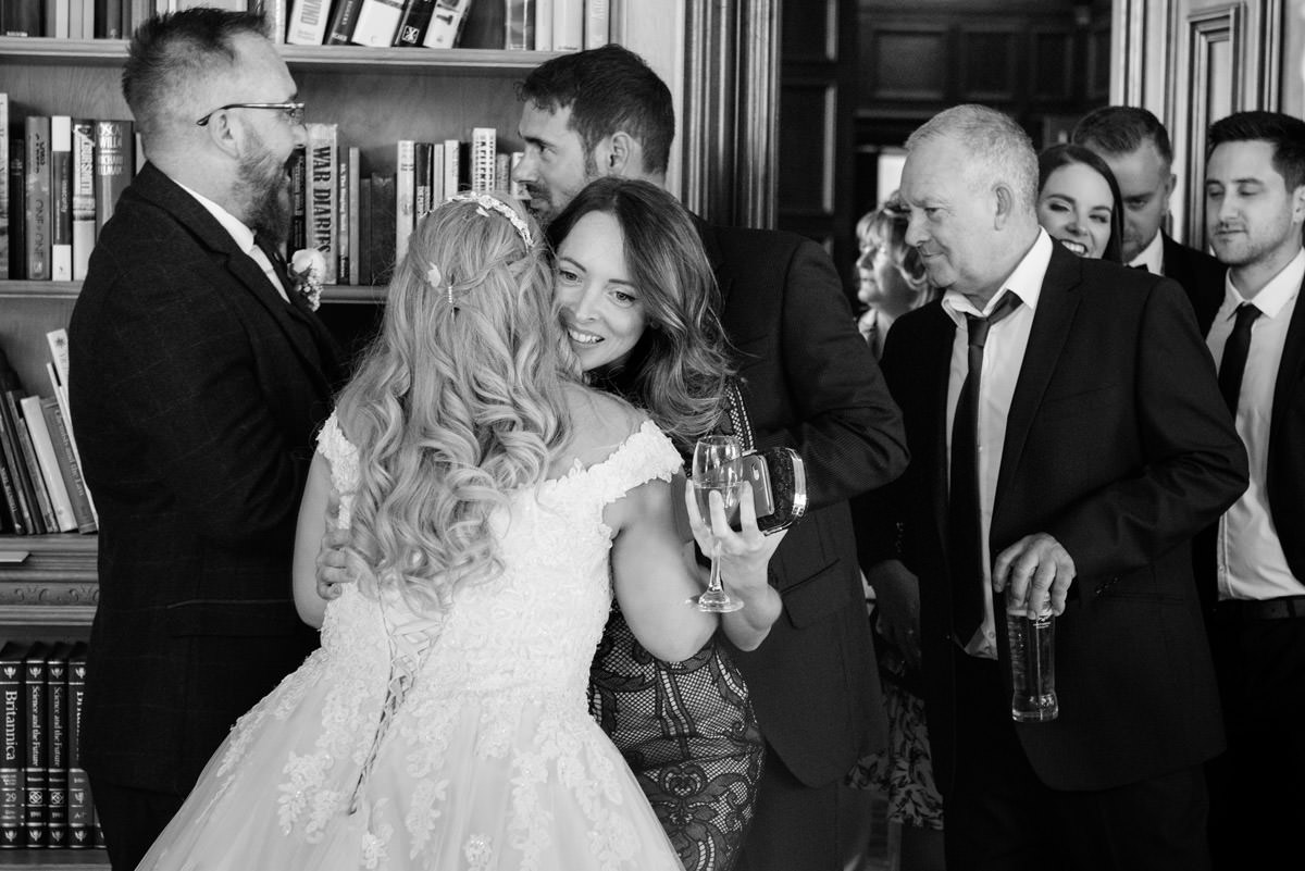 Receiving line for the wedding breakfast at Stoke Rochford Hall, Grantham