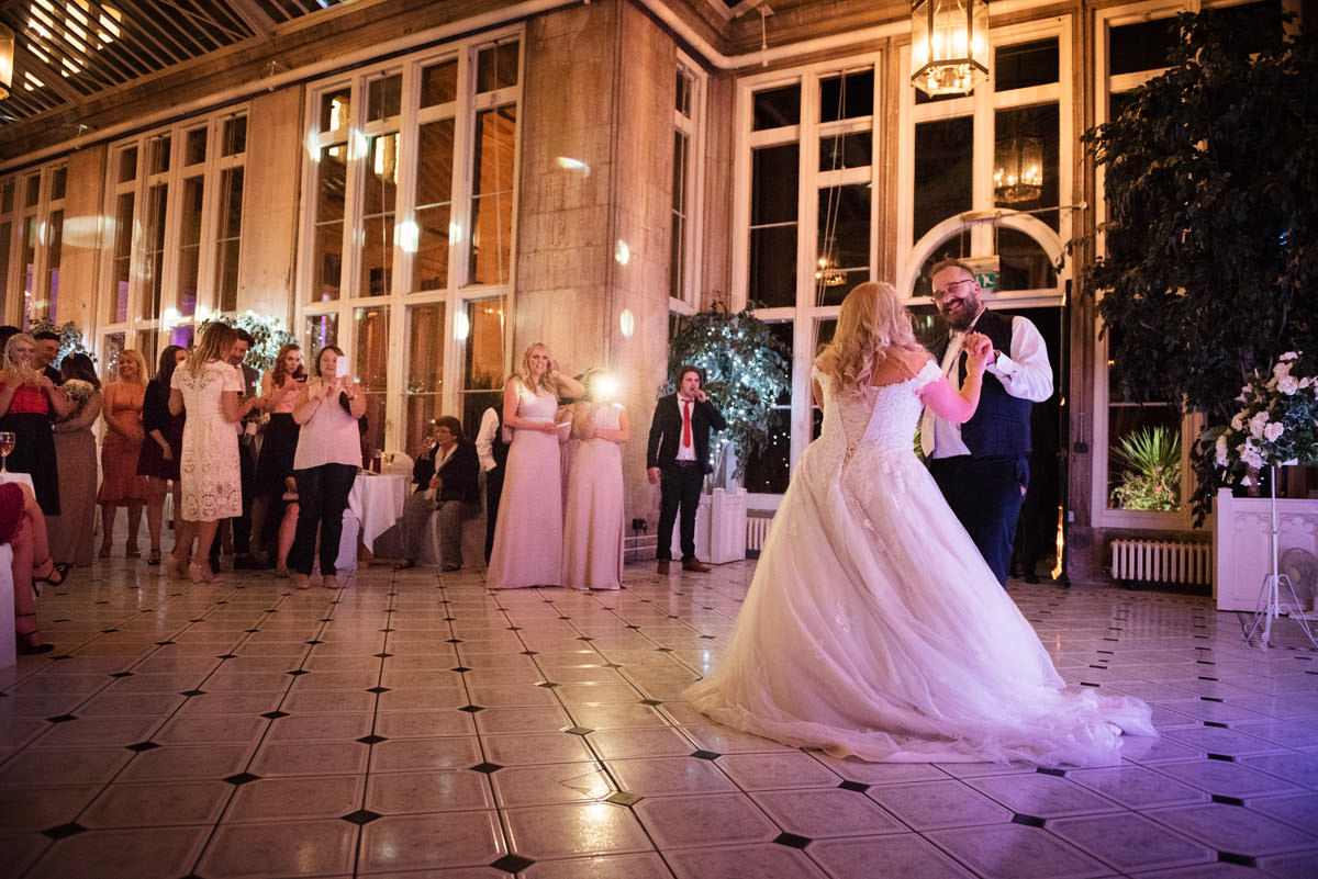 Bride & Groom's first dance at Stoke Rochford Hall, Grantham