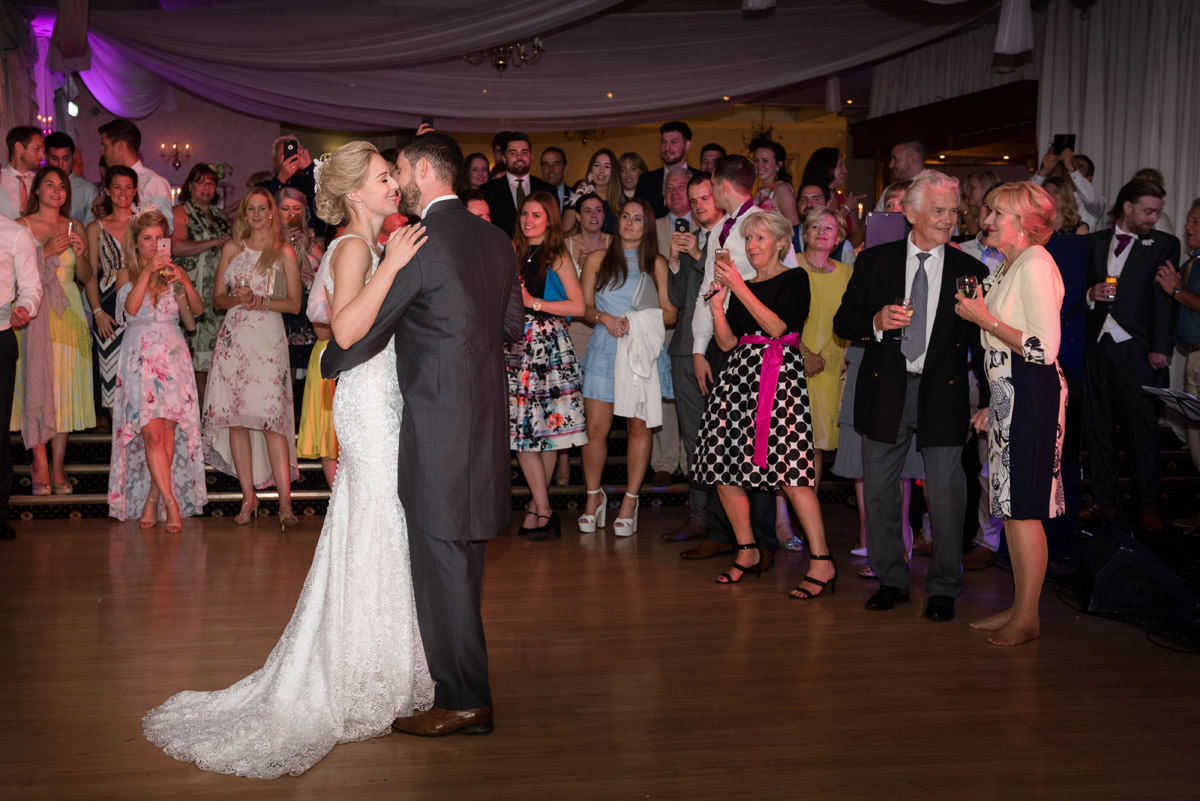 Bride & Groom's first dance at Barnsdale Hall Hotel on Rutland Water