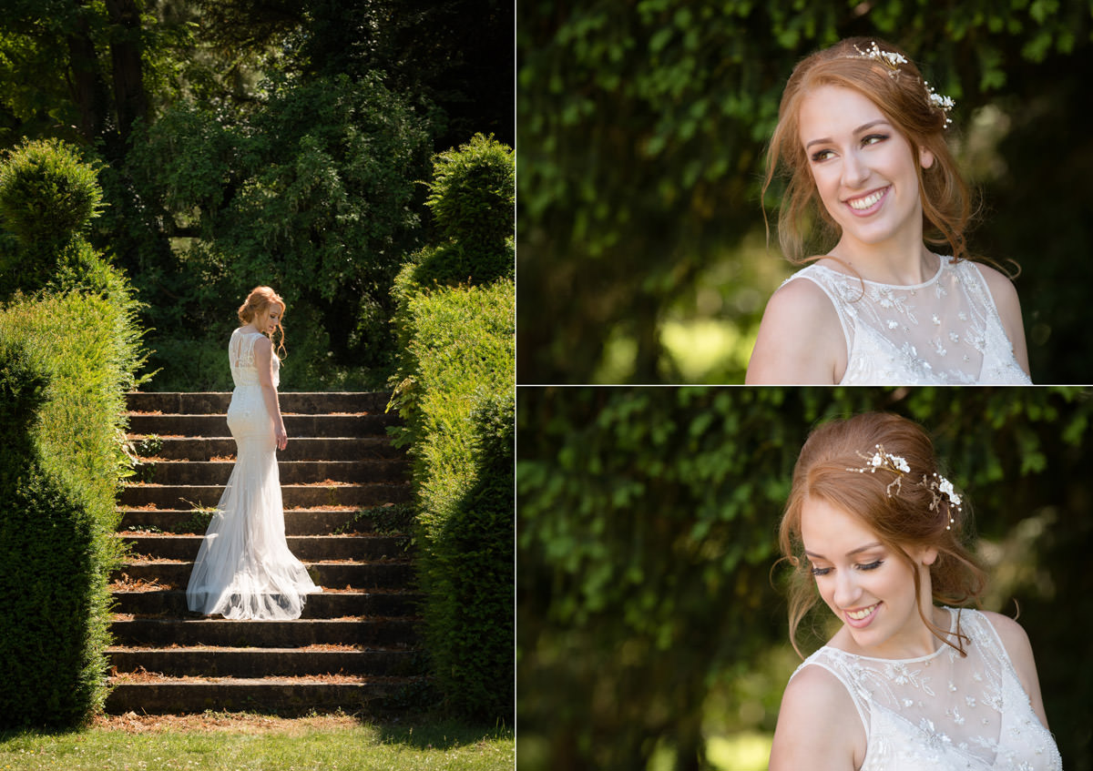 Portraits of a bride at Pipewell Hall