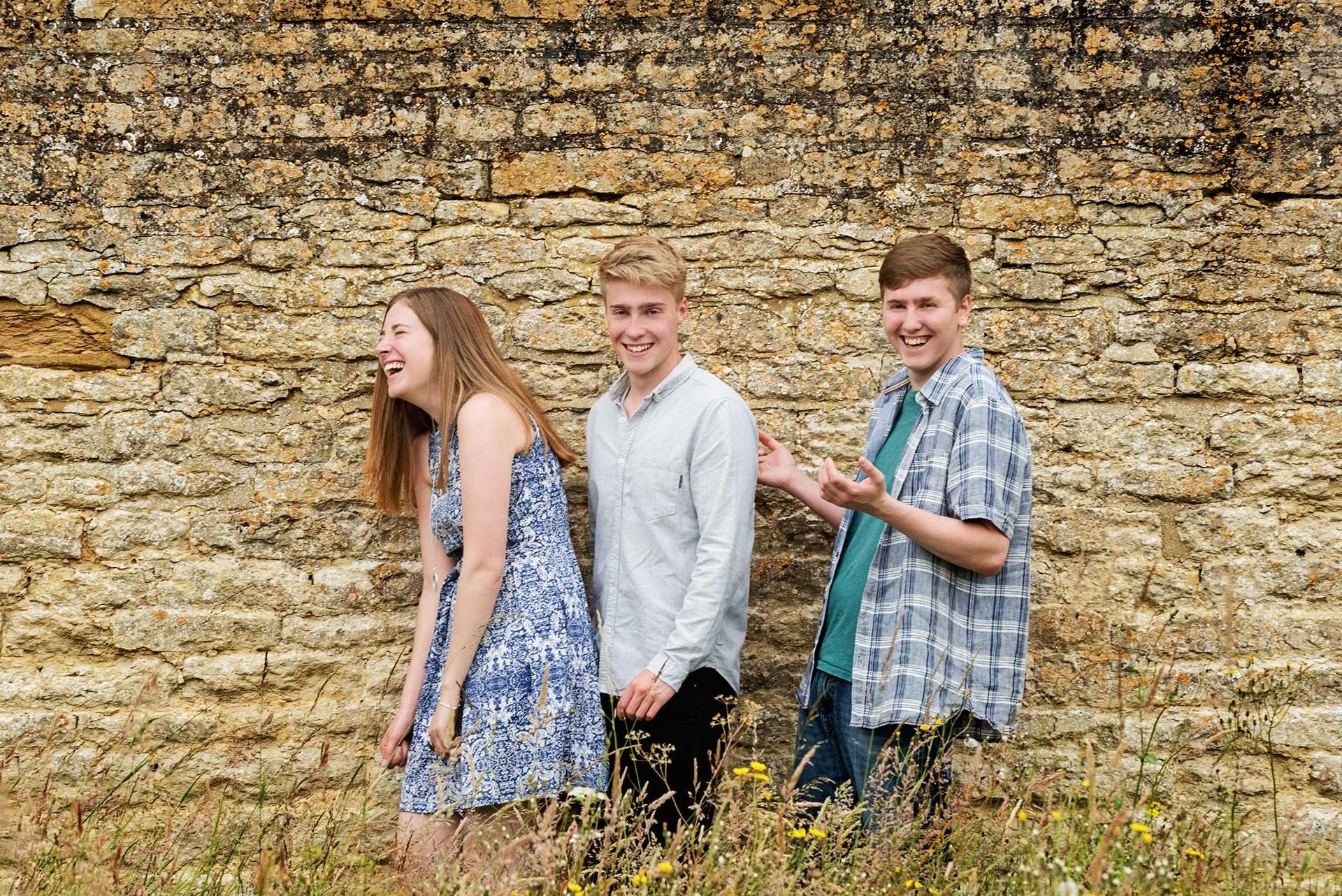 Family photos at Boughton House