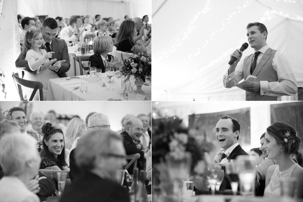 Speeches in a marquee
