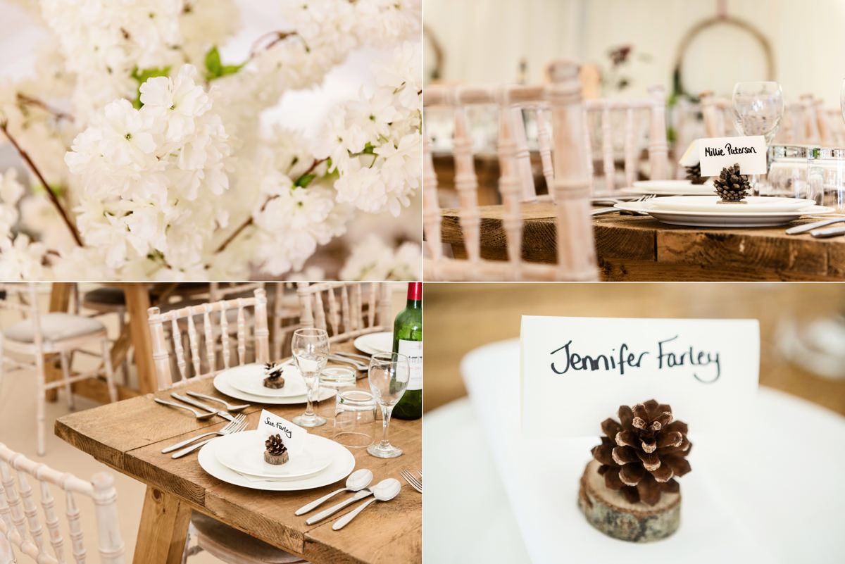 A winter themed wedding in Swavesey, Cambridge