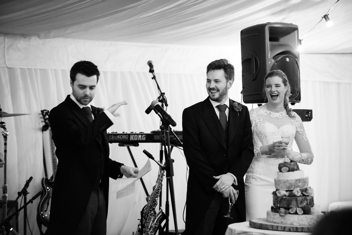 The best man's speech in Swavesey, Cambridge