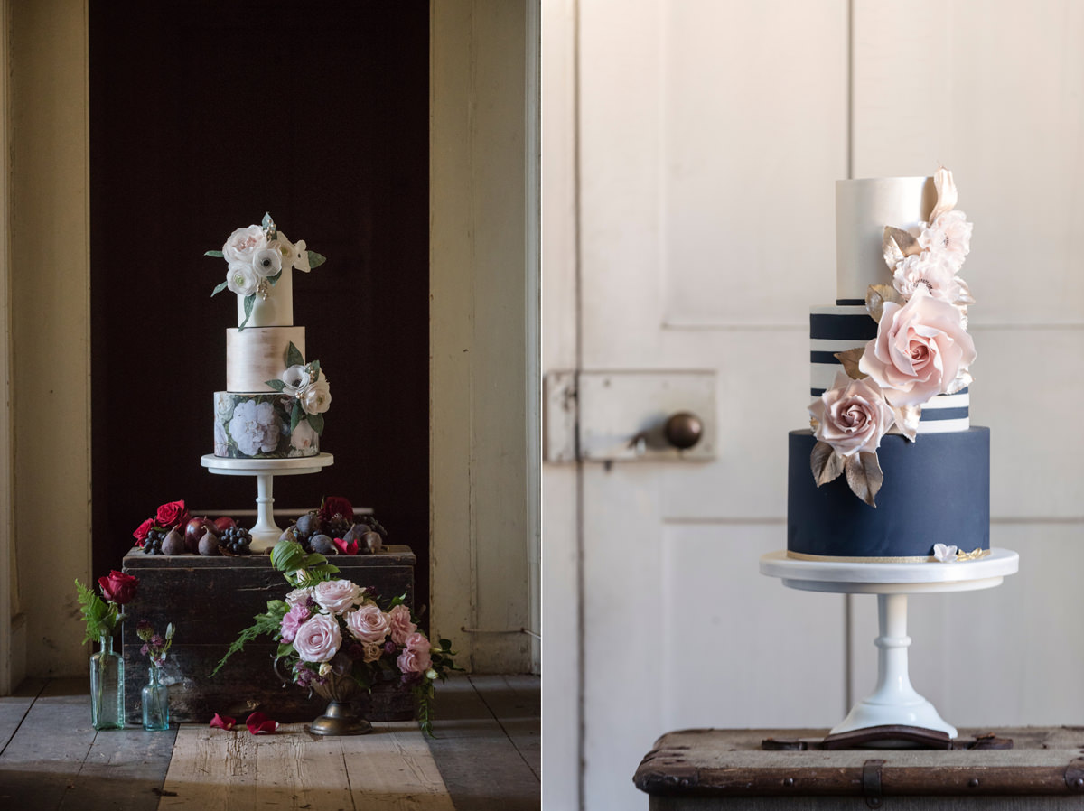 Modern takes on traditional wedding cakes by Couture Cakes in Northampton
