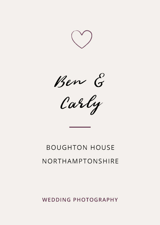 Cover image for Ben & Carly's Boughton House wedding blog post