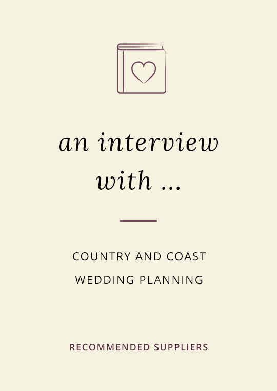Country and Coast Wedding Planners blog interview cover image