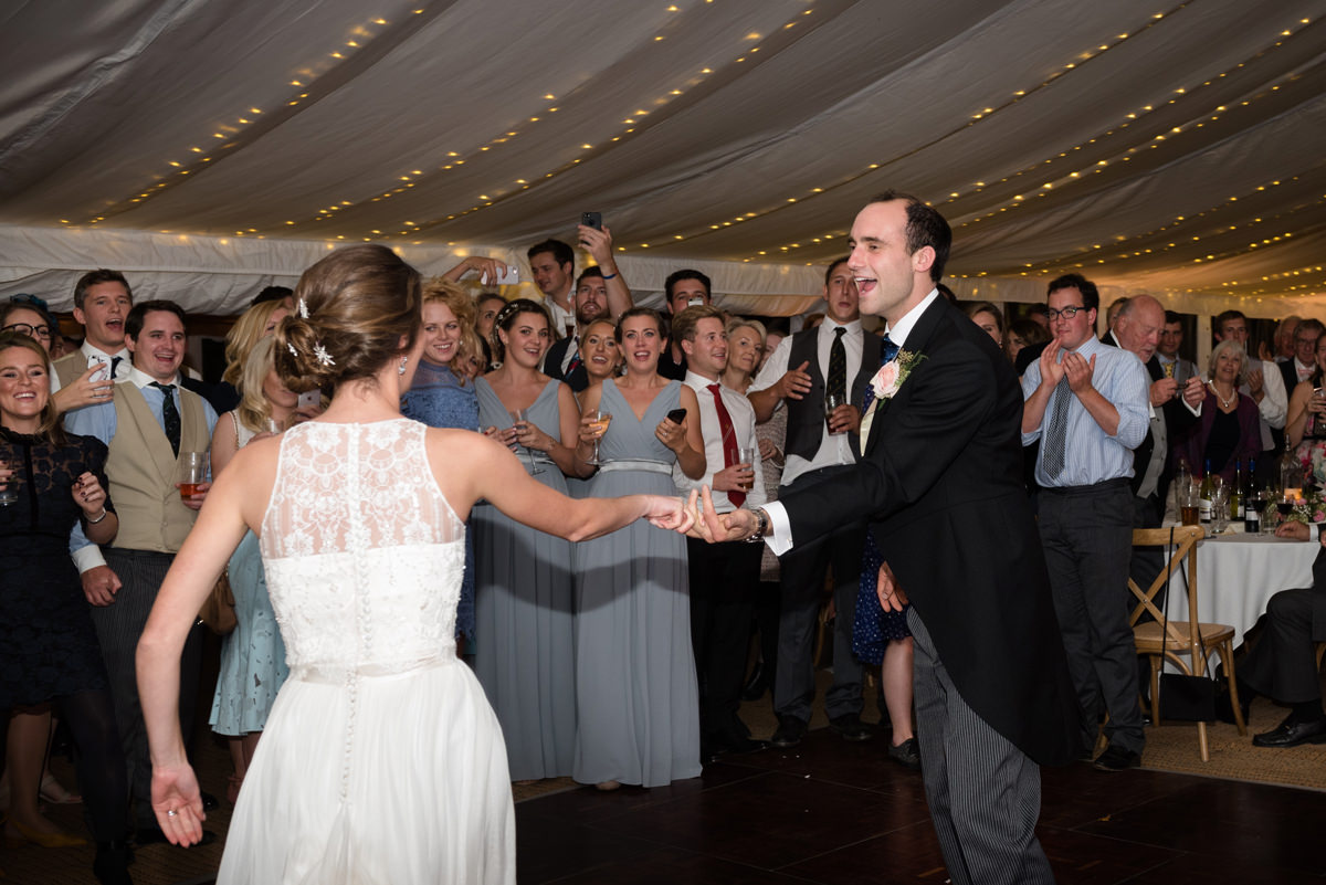 Lively first dance