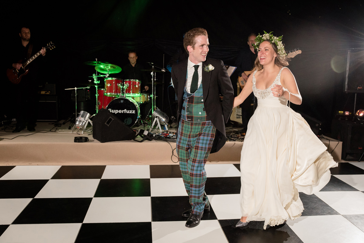 Scottish themed first dance to I would walk 100 miles
