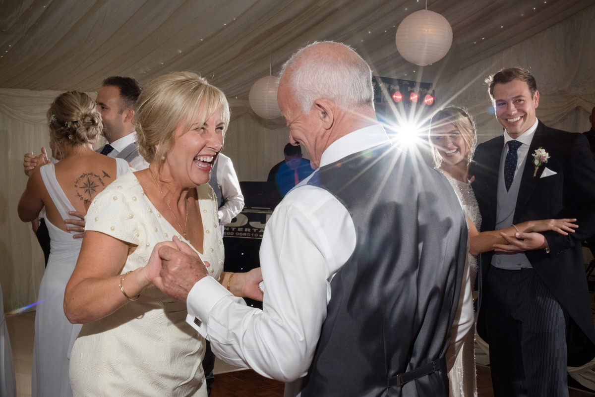 Bride's parents dancing