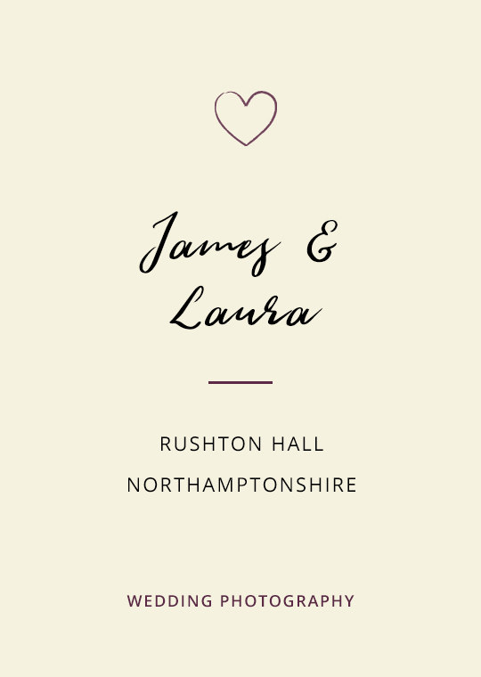 Cover image for James & Laura's Rushton Hall wedding blog post