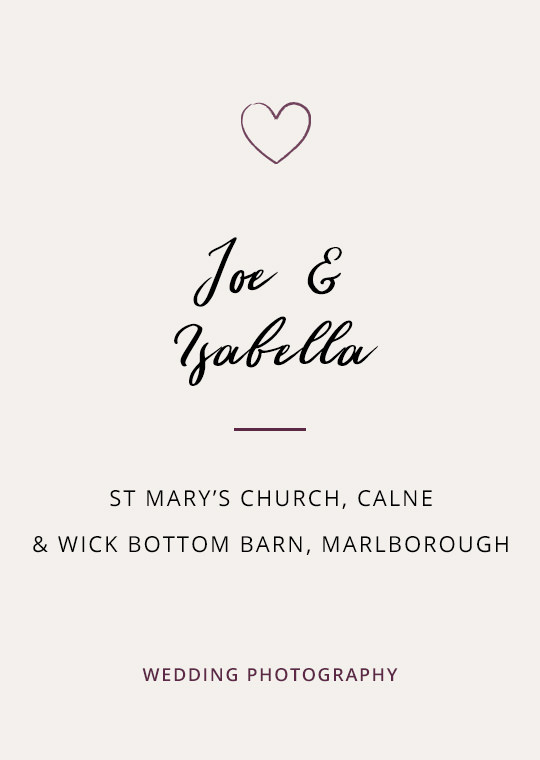 Cover image for Joe & Isabella's Wick Bottom Barn wedding blog post