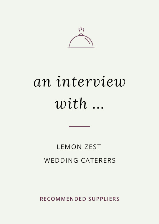 Lemon Zest catering blog interview cover image