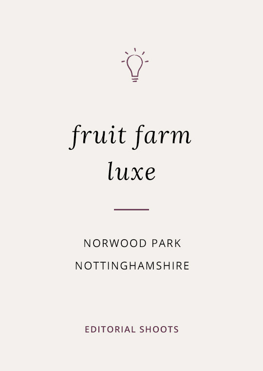 Cover image for blog post about fruit farm wedding ideas at Norwood Park