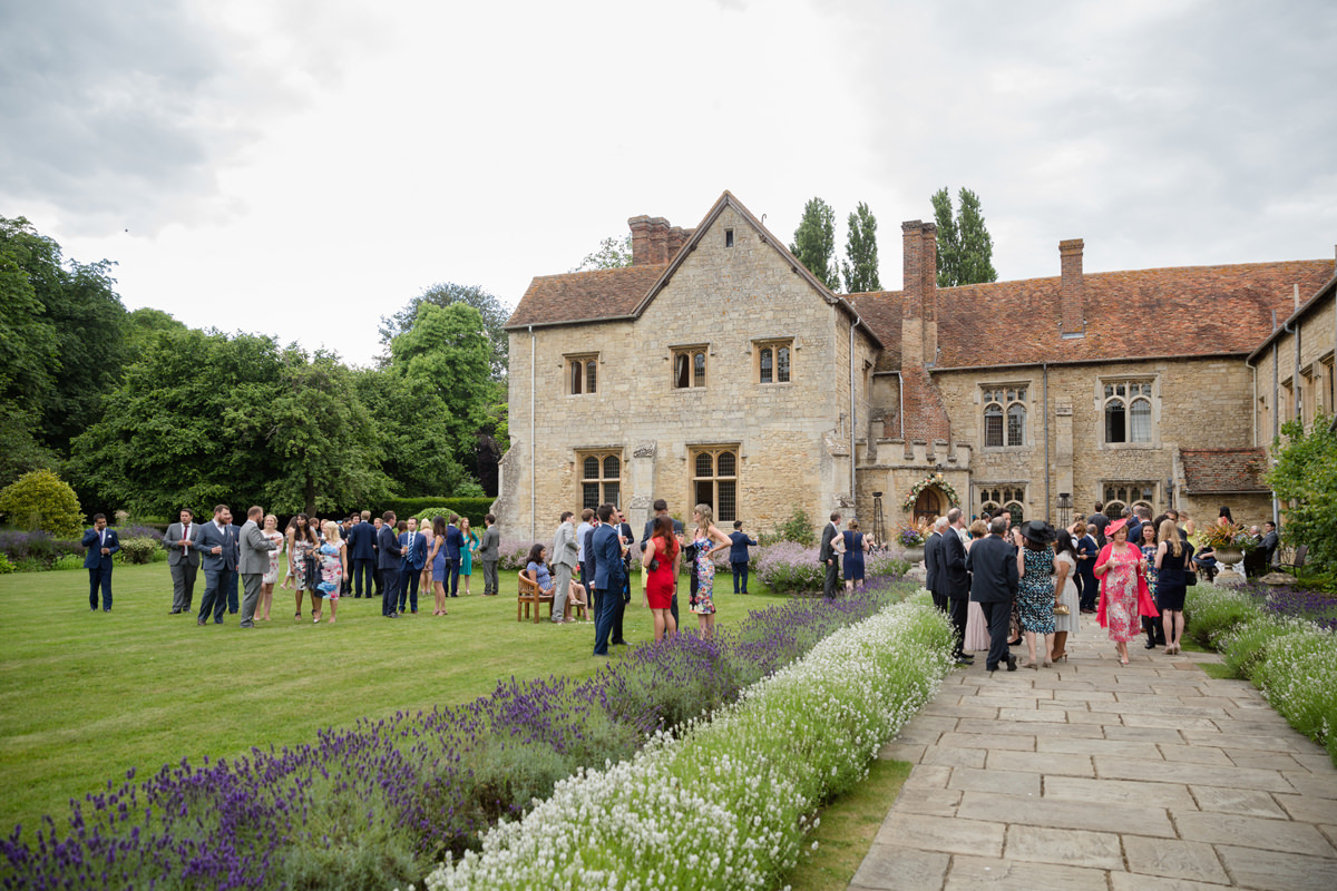 Drinks reception at Notley Abbey