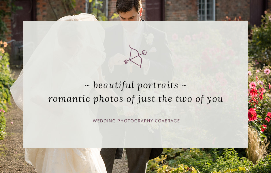 Header image for blog post about wedding portrait photography