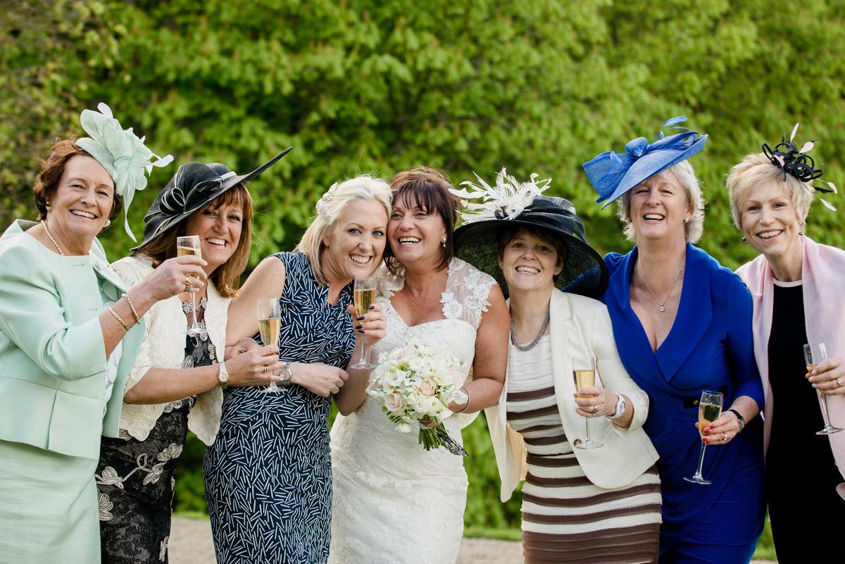 Bride with her best friends