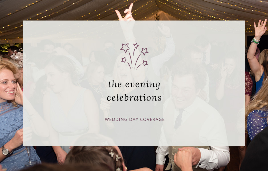 Header image for blog post about wedding evening photography