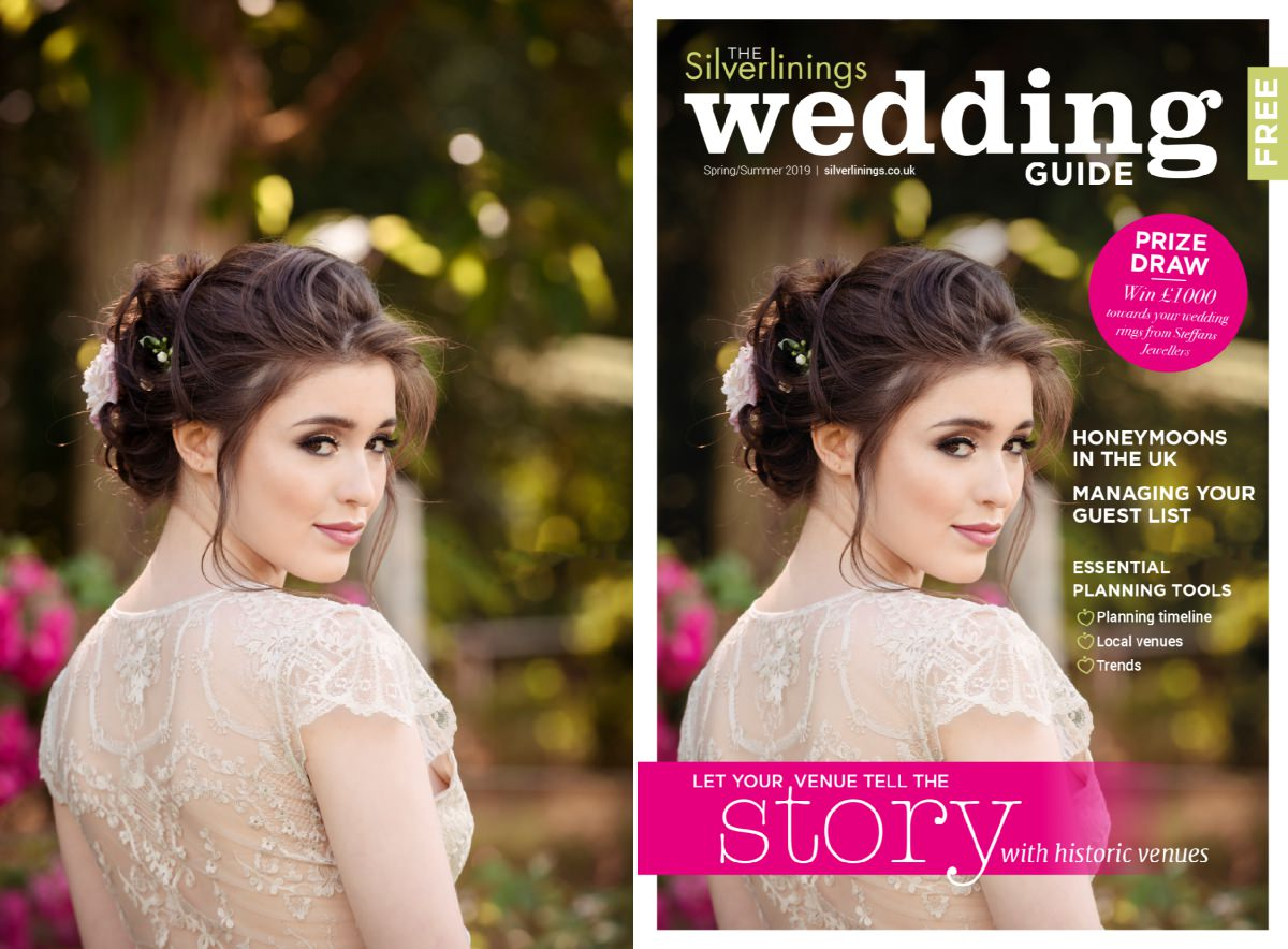 Front cover of Silverlinings Wedding Magazine Spring/Summer 2019