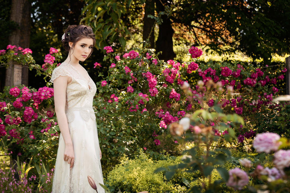 Image from photo shoot at Boughton House for Silverlinings Wedding Magazine Front Cover S/S 2019
