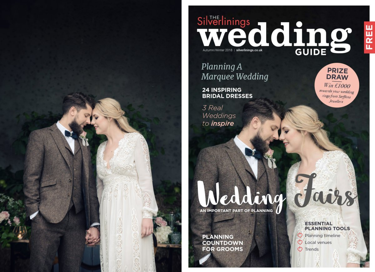 Front cover of Silverlinings Wedding Magazine Autumn/Winter 2018